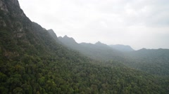 Aerial View Of Langkawi Rain Forest From Cable Car, Pan Right Stock Footage