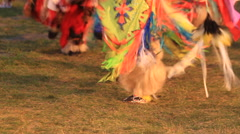 Dancing feet at a Native American pow wow Stock Footage
