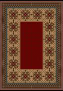 Stock Illustration of Luxury carpet with burgundy pattern against the background brown shades