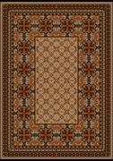 Stock Illustration of Luxurious carpet with original pattern with brown shades