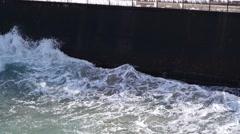 storm on sea - stock footage