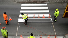 Making of pedestrian crossing, time lapse,locked down, Stock Footage