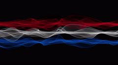 Wonderful dutch color wave flag animation for sport events, 4096x2304 loop 4K Stock Footage