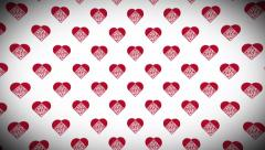 Love QR Code loop background Stock Footage