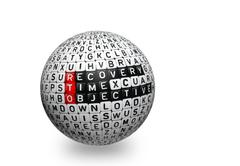 Stock Illustration of RTO  recovery time objective 3d ball