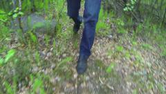 Feet and Legs of a Hiker in Southeast Asia Stock Footage