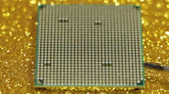 Computer CPU Stock Footage