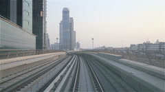 Metro in Dubai Stock Footage