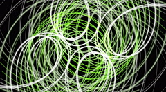 Fantastic eco animation with moving particle stripe object, 4096x2304 loop 4K Stock Footage
