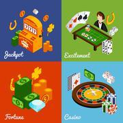 Casino Isometric Set Stock Illustration