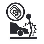 Vector illustration of isolated crash car icon Piirros