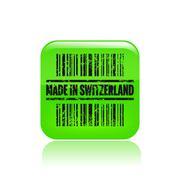 Vector illustration of single Swiss print icon - stock illustration