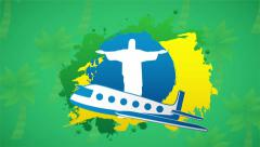 Travel to brazil, Video animation Stock Footage