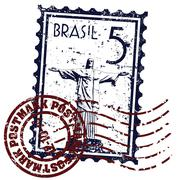Vector illustration of Rio de Janeiro Stamp Stock Illustration