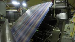 4K print production lines in newspaper printing press shop. UHD stock video Stock Footage