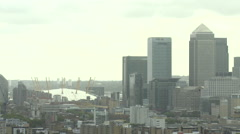 East London Canary Wharf O2 Centre Millennium Dome View Stock Footage