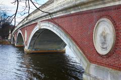 USA, Harvard University, 06.04.2011, bridge - stock photo