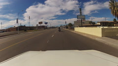 Driver POV On Historic Route 66- Barstow CA Stock Footage