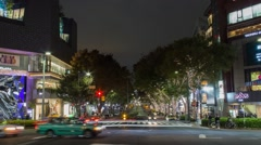 OMOTESANDO, TOKYO, JAPAN - NOVEMBER 2014 - Omotesando Night Traffic Stock Footage