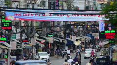 Time Lapse of Traffic in Busy District of HCMC - Ho Chi Minh City Vietnam Stock Footage