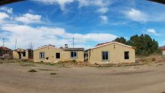 Driving By Abandoned Derelict Houses- Barstow, California Stock Footage