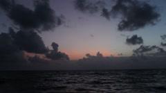 Belize Cloudy Sunrise1 Stock Footage