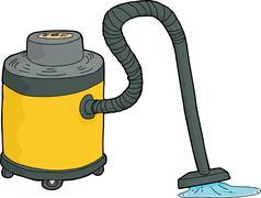 Wet-Dry Vacuum Sucking Water Stock Illustration