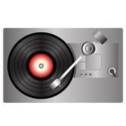 Vinyl record player Stock Illustration