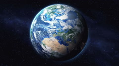 Zoom in from space down to a city on Earth. Stock Footage
