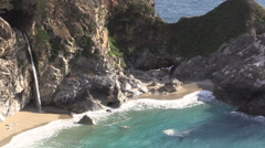 McWay Falls Landscape Stock Footage