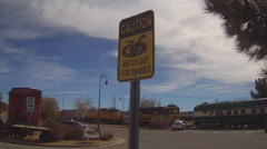 Sign-Watch Out For Snakes- Barstow California Stock Footage