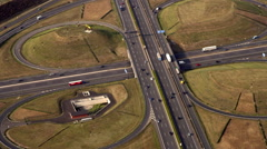 Aerial Shot from Helicopter in Northrhein Westfalia Autobahn 02 Stock Footage