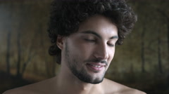 young sexy and handsome man portrait - stock footage