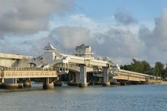 Bridge between Phuket and Pang Nga in Thailand - stock photo