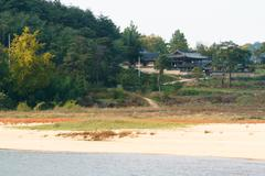 whole view of Hwacheonseowon - stock photo