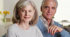 Mature couple smiling - stock footage