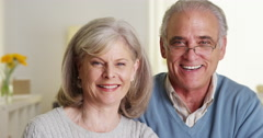 Happy senior couple smiling Stock Footage