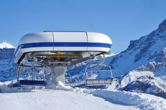 Ski chairlift - stock photo
