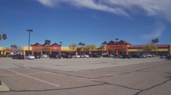 Tanger Outlet Center- Barstow California- Wide Stock Footage