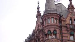 Establishing shot of European Flat - Exterior Stock Footage