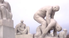 Oslo Norway's Vigeland (Frogner) Sculpture Park Stock Footage