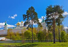 New Jerusalem monastery - Istra Russia - stock photo