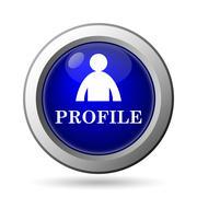 Stock Illustration of Profile icon. Internet button on white background..