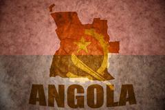 Stock Illustration of angola vintage map