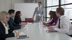 Stock Video Footage of A Caucasian Man Leading a Meeting (4 of 7)
