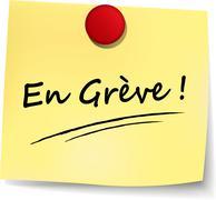 striking note ( french translation ) - stock illustration