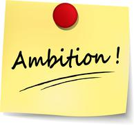 Ambition yellow note Stock Illustration