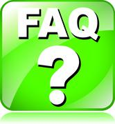 Stock Illustration of green faq icon