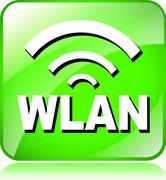 Green wlan icon Stock Illustration