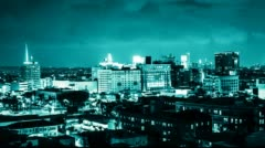 Hollywood Time Lapse Night - stock footage